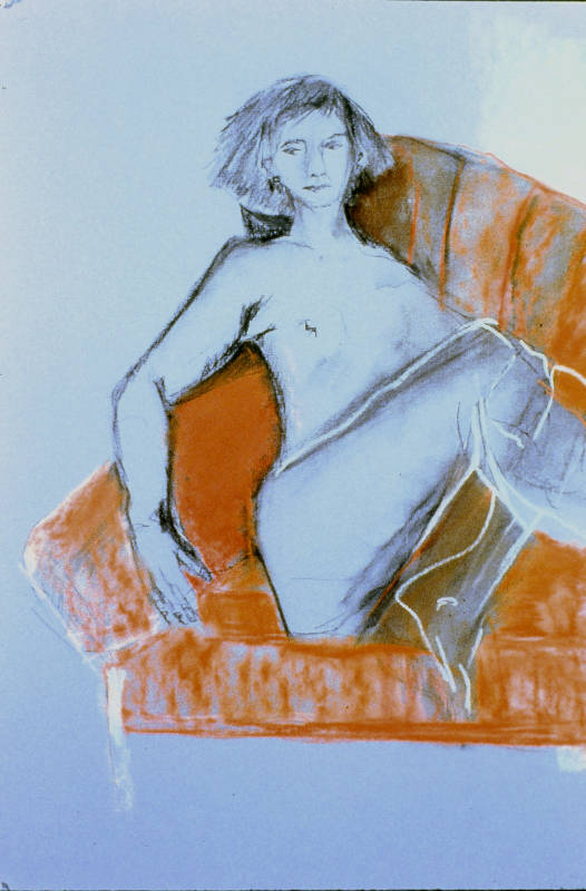 Seated Nude | Pastels & Charcoal