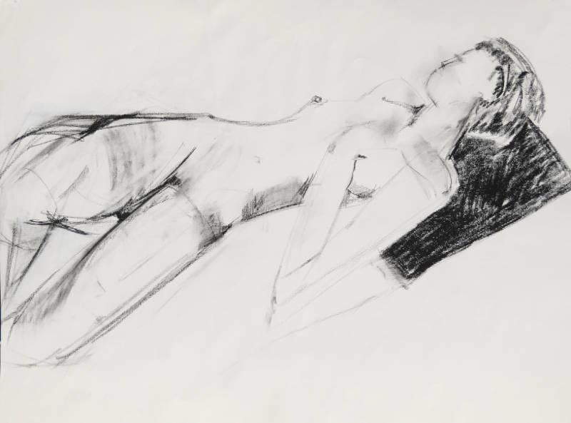 Studio Model II | Charcoal on Paper