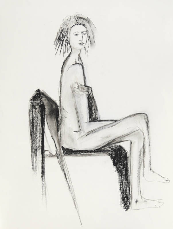 Studio Model IV | Charcoal on Paper