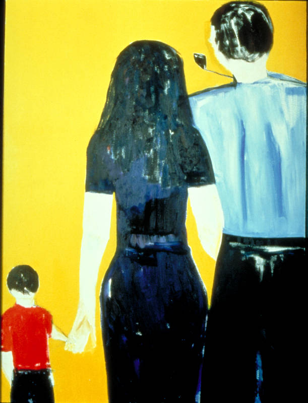 Three People of the Yellow Sun   Oil on Canvas