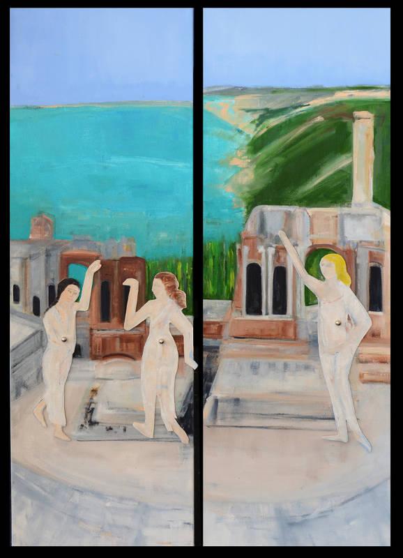 Theatre at Taormina II   Oil on Canvas