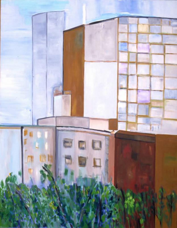 Urban Life | Oil on Canvas