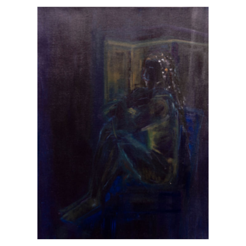 Study in Black   Oil on Canvas
